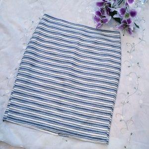 {Ann Taylor} Striped Pencil Skirt